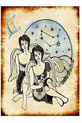 Tablomega Ikizler Burcu Art Mdf Poster 35cm X 50cm 0