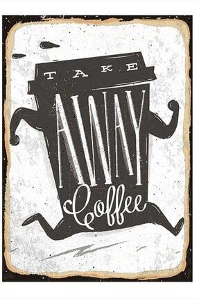 Tablomega Take Away Coffee Tasarım Mdf Tablo 50cm X 70cm 0