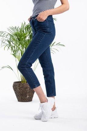 Masteks Kadın Koyu Mavi Boyfriendi Mom Jeans 1