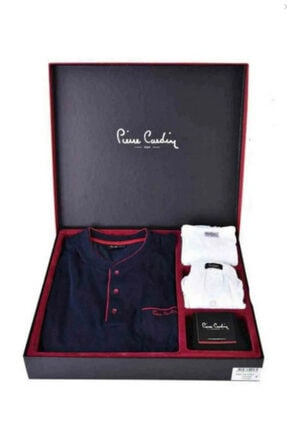 Pierre Cardin Damat Çeyiz Lacivert Pijama Çamaşır Set Takım 2000 0