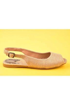 SWELLSOFT Kadın Bej Hasır Ayakkabı 050-20y 1
