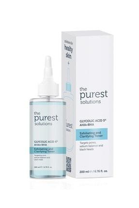The Purest Solutions Gözenek Sıkılaştırıcı ve Arındırıcı Tonik 200 ML (Glycolic Acid 5% AHA + BHA) 0
