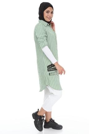 heradise Kadın Çağla Yeşili Uzun Çizgili Tunik - 5136 2