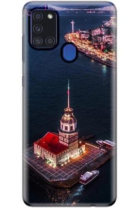 Turkiyecepaksesuar Samsung Galaxy A21s Kılıf Silikon Baskılı Desenli Arka Kapak 0