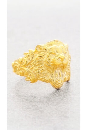 TYRAN DESIGN Kadın Kaplan Yüzük Altın Renk 1