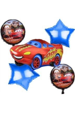 Cars Uçan Folyo 5 Li Balon Seti 0