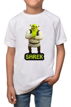 GiftStore Shrek- Beyaz Çocuk - Yetişkin Unisex T-shirt T-2 0