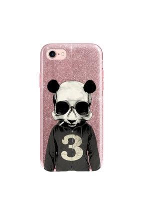 cupcase Iphone 6 Plus Kılıf Simli Parlak Kapak Pembe Rose Gold - Stok661 - Skull Panda 0