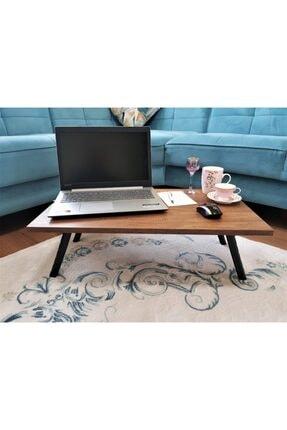 Elfin Mobilya ve Dekorasyon Elfin Laptop Sehpası Bilgisayar Sehpası Sofra Sehpası Ceviz 40x70 1