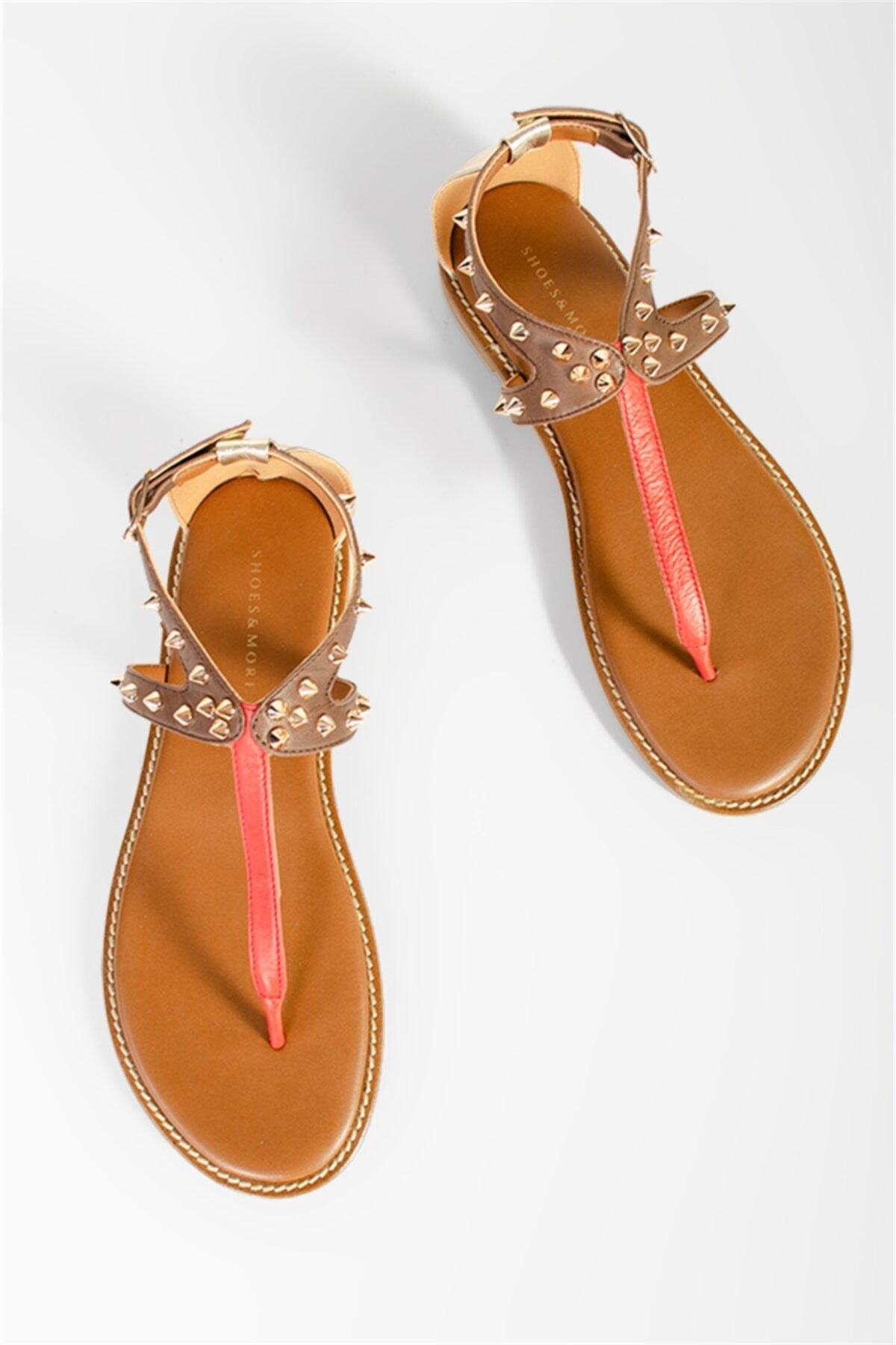 Shoes & More Kadın Mercan Multi Elexus Sandalet