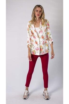 REMILA Kadın Çiçek Desenli Blazer Ceket 0