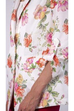 REMILA Kadın Çiçek Desenli Blazer Ceket 2