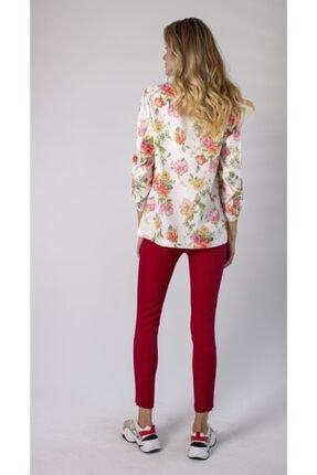 REMILA Kadın Çiçek Desenli Blazer Ceket 3