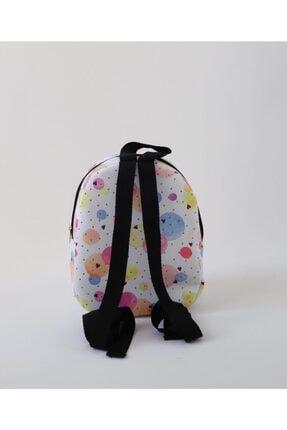 MiniHİ Çanta Kız Çocuk Beyaz Yaş Sulu Boya Desenli Çanta 2