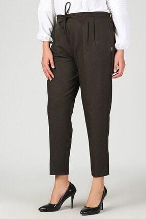 Womenice Kadın Haki Büyük Beden Beli Lastikli Havuç Pantolon 0