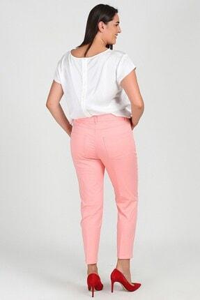Womenice Kadın Pembe Büyük Beden 5 Cep Pantolon 2