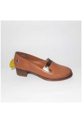 Kadın Taba Topuklu Ayakkabı D20YA-3510 Taba
