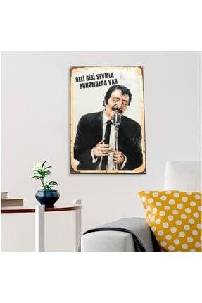 FERMAN HEDİYELİK Müslüm Gürses Ahşap Retro Poster 17,5 X 27,5 Cm 0