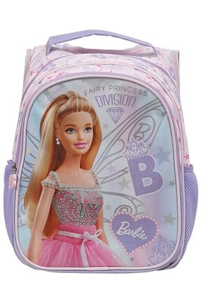 Barbie Kız Çocuk Mor Pembe Fairy Princess İlkokul Çantası 0