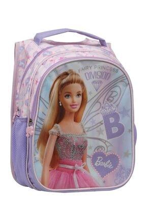Barbie Kız Çocuk Mor Pembe Fairy Princess İlkokul Çantası 1