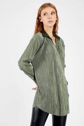 Manche Kadın Zümrüt Bluz 2
