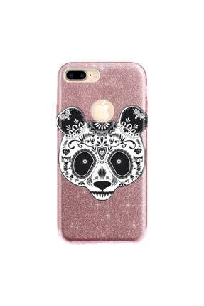 cupcase Iphone 7 Plus Kılıf Simli Parlak Kapak Pembe Rose Gold - Stok518 - Pandass 0