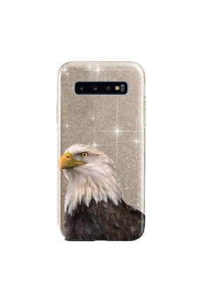 cupcase Samsung Galaxy S10 Kılıf Simli Parlak Kapak Altın Gold Renk - Stok534 - Kartal 0