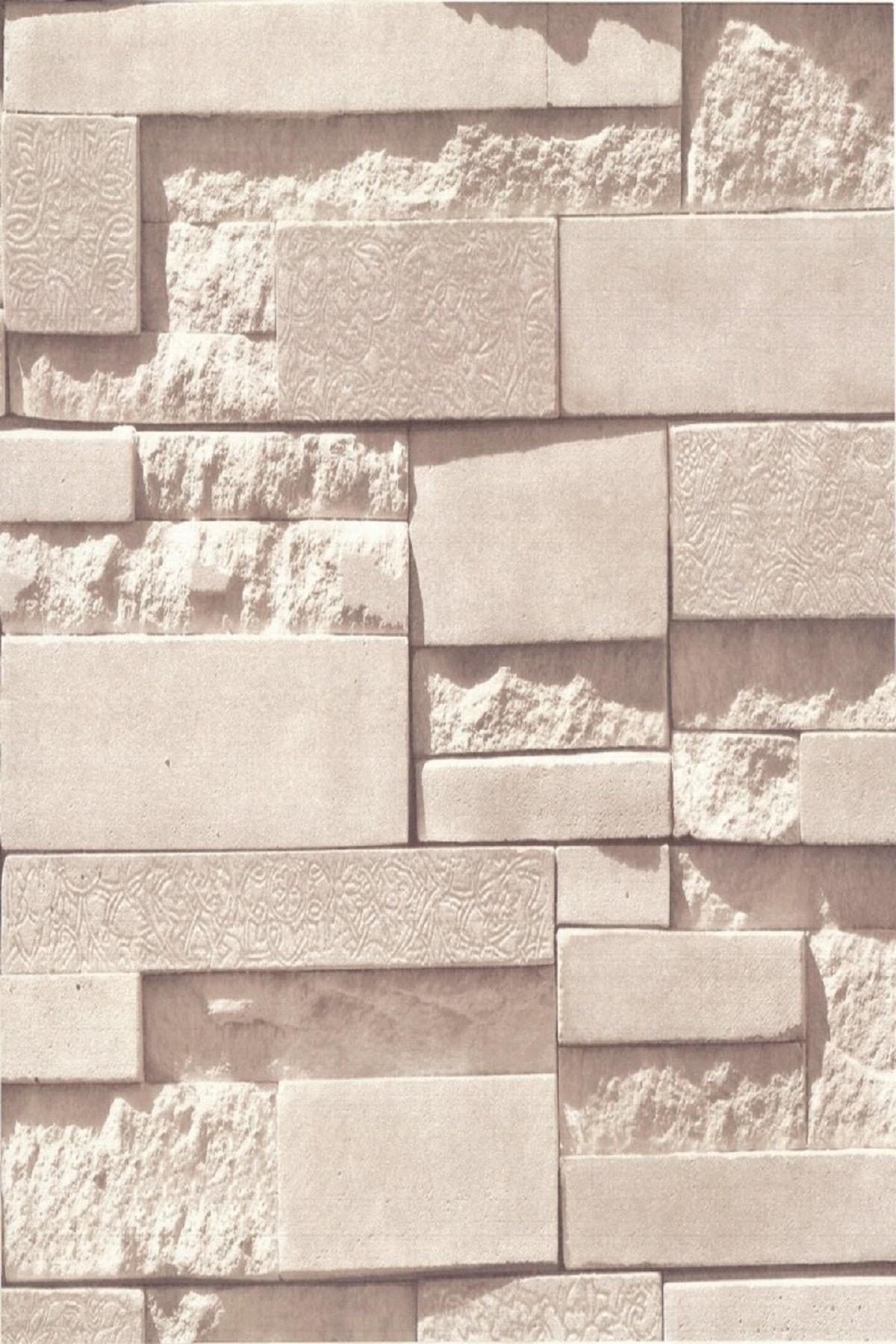 Popüler Taş Desen Duvar Kağıdı (5 M²) 13152
