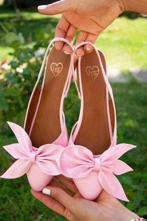 Fox Shoes Pudra Kadın Babet H726809004 1