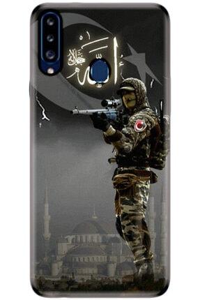 Turkiyecepaksesuar Samsung Galaxy A20s Kılıf Silikon Baskılı Desenli Arka Kapak 0