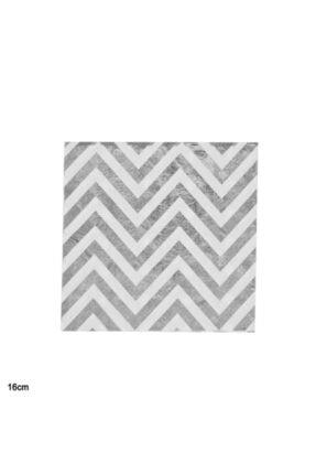 Cansüs Beyaz 20li Gümüş Zig Zag Kağıt Peçet 16 cm 0