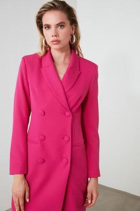 TRENDYOLMİLLA Fuşya Ceket Elbise TWOAW20EL0918 2