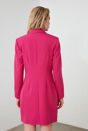 TRENDYOLMİLLA Fuşya Ceket Elbise TWOAW20EL0918 3