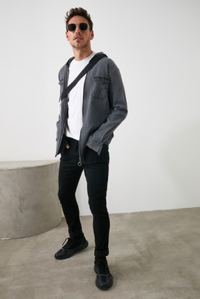 TRENDYOL MAN Siyah Erkek Skinny Solmayan Siyah Jeans TMNSS20JE0236 3