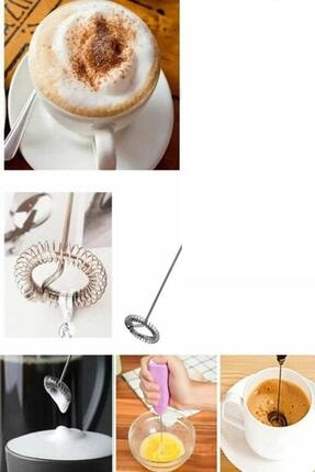 METROPOLAVM Pilli Mini Mixer Kahve Süt Köpürtücü Karıştırıcı Cappucino Mixer 1