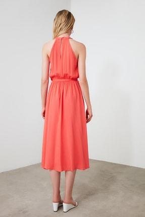 TRENDYOLMİLLA Kırmızı Kuşaklı Elbise TWOSS19EL0155 4