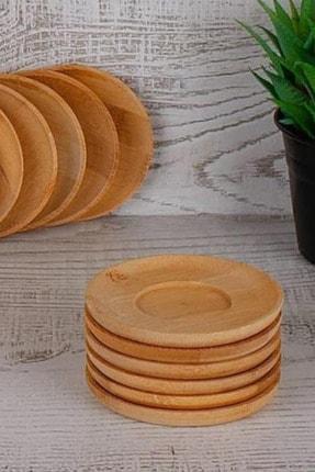 UrziKitchen Bambu Yuvarlak Çay Tabağı 6'lı 0