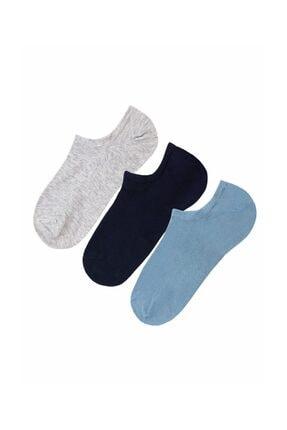 Suwen 3'Lü Paket Kadın Çorabı  Navy İndıgo Gri 0
