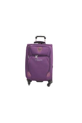 US Polo Assn Mor Büyük Boy Kumaş Valiz Bavul Plvlz 8089a-1mr 0