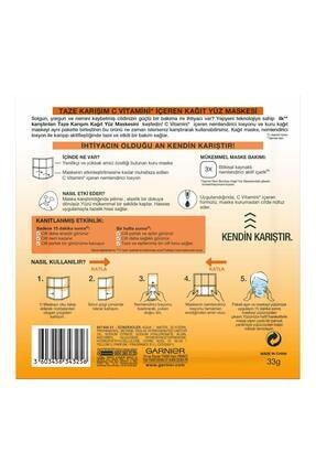 Garnier Taze Karışım Kağıt Yüz Maskesi Vitamin C 3'lü Set 86905958239282 1