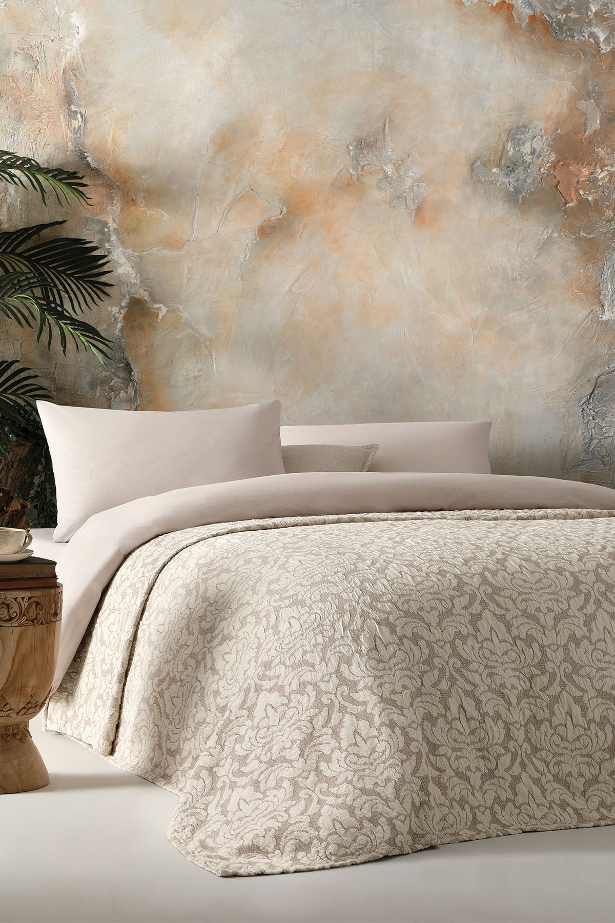 Lino Çift Kişilik Yatak Örtüsü