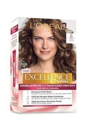 L'Oreal Paris Saç Boyası - Excellence Creme 6 Açık Kahverengi 3600523736652 0