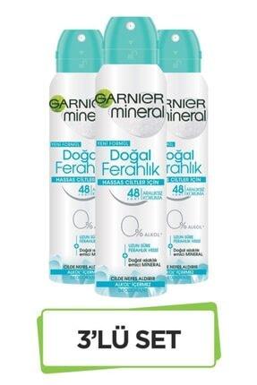 Garnier Mineral Doğal Ferahlık Sprey Deodorant 3'lü Set 36005420381573 0