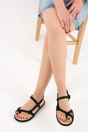Fox Shoes Siyah Kadın Sandalet F838243604 0