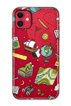 Mobilteam Apple Iphone 11 Kırmızı Baskılı Silikon Telefon Kılıfı 0