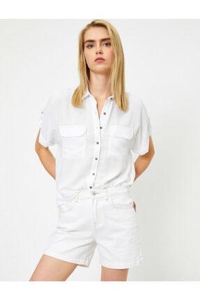 Koton Kadın Beyaz Gömlek 0YAL68621OW 1