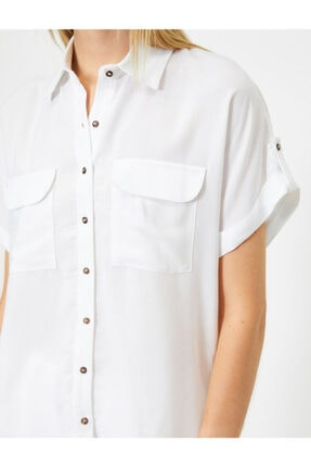 Koton Kadın Beyaz Gömlek 0YAL68621OW 4