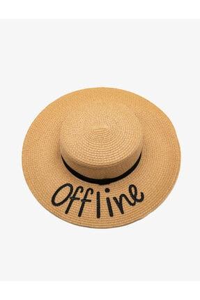 Koton Kadın Bej Hasır Şapka 0