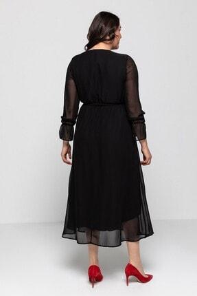 Melisita Platina Anvelop Büyük Beden Elbise 3
