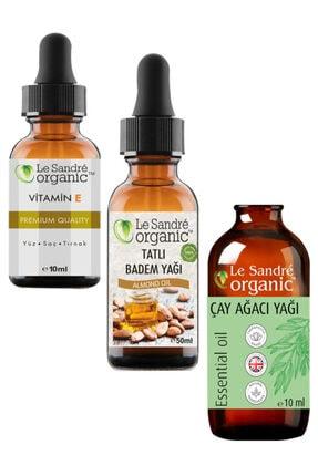 Le'Sandre Organics E Vitamini & Tatlı Badem Yağı & Çay Ağacı Yağı 0